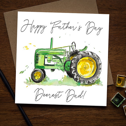 Tractor Father's Day Card