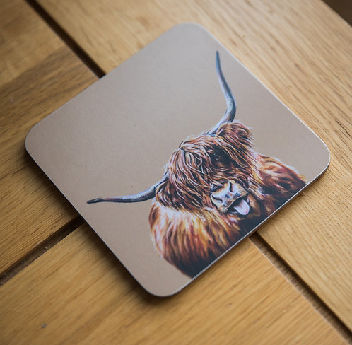 Hamish the Highland Cow Coaster