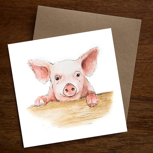 This Little Piggy - Greetings Card - Pack of 10