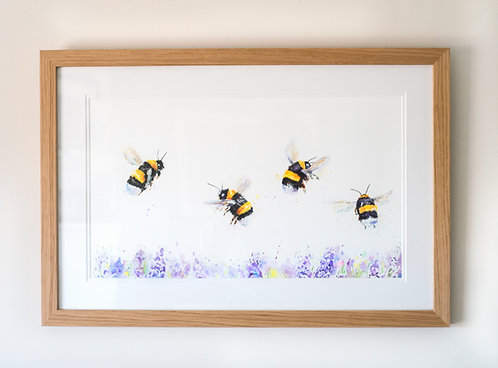 Don't Worry Bee Happy - Framed Original