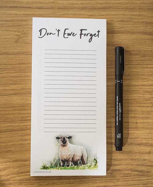 Don't Ewe Forget List pad  - Pack of 10