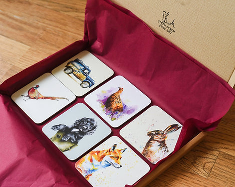 6 Coasters for £22