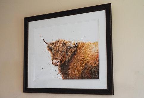 Fergus the Highland Framed Original
