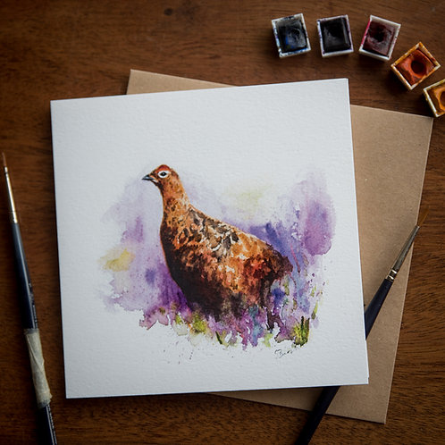 'Grouse' Greetings Card - Pack of 10