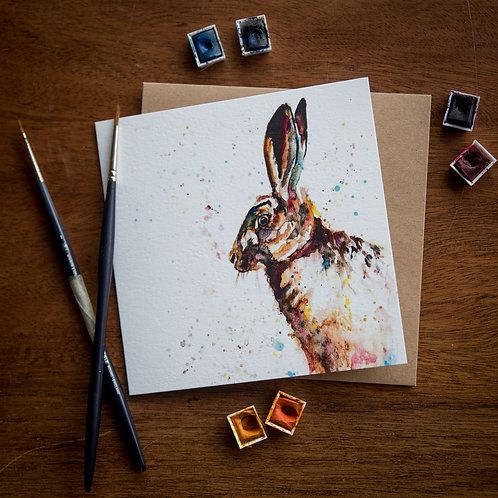 'Hare Raiser' Greetings Card - Pack of 10