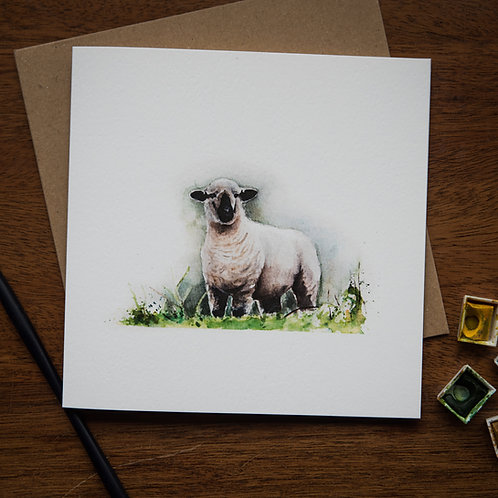 Hermione the Hampshire Down Greetings Card