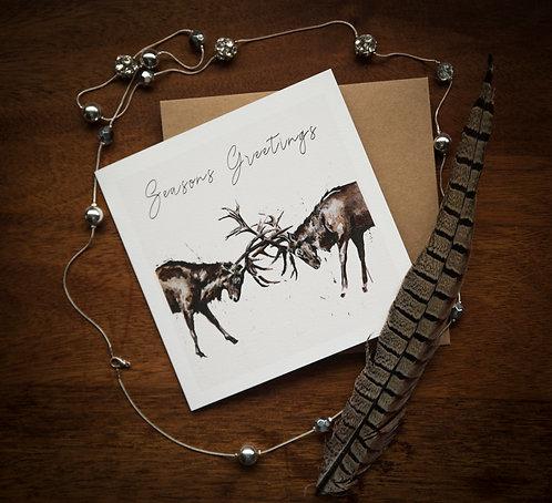 Stag Season's Greetings - Pack of 5.