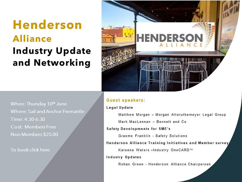 Industry Update and Networking june 10th
