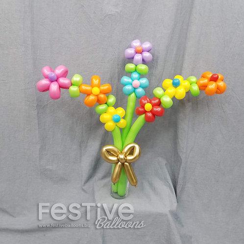Bouquet of Flowers (fan shape)