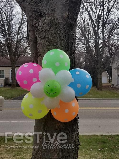 Neon Polka-Dot Bubble of Joy