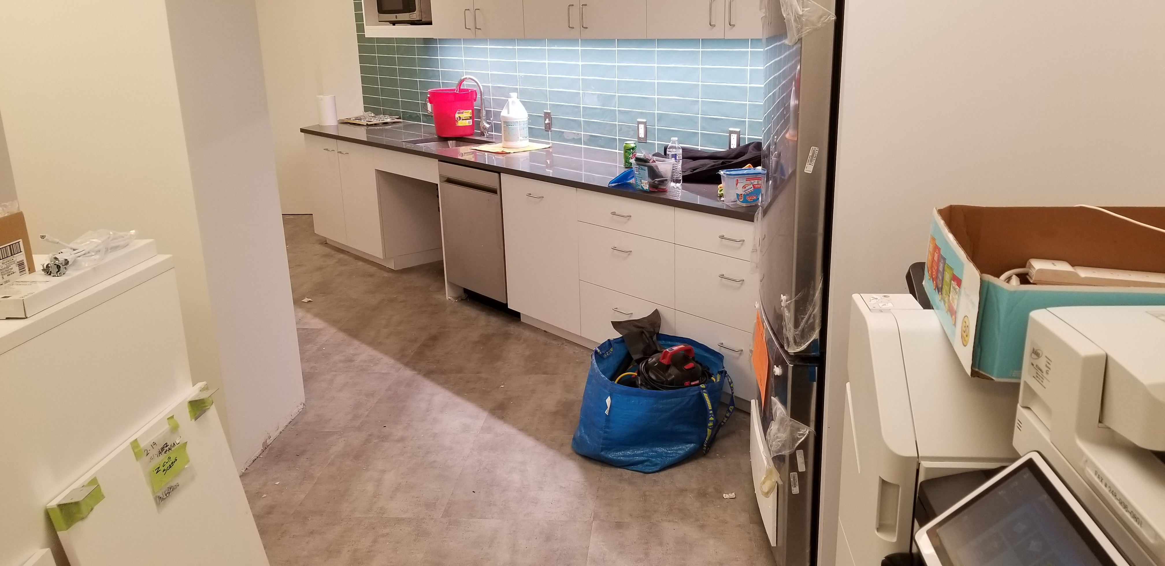 Construction Clean Up, Kitchen