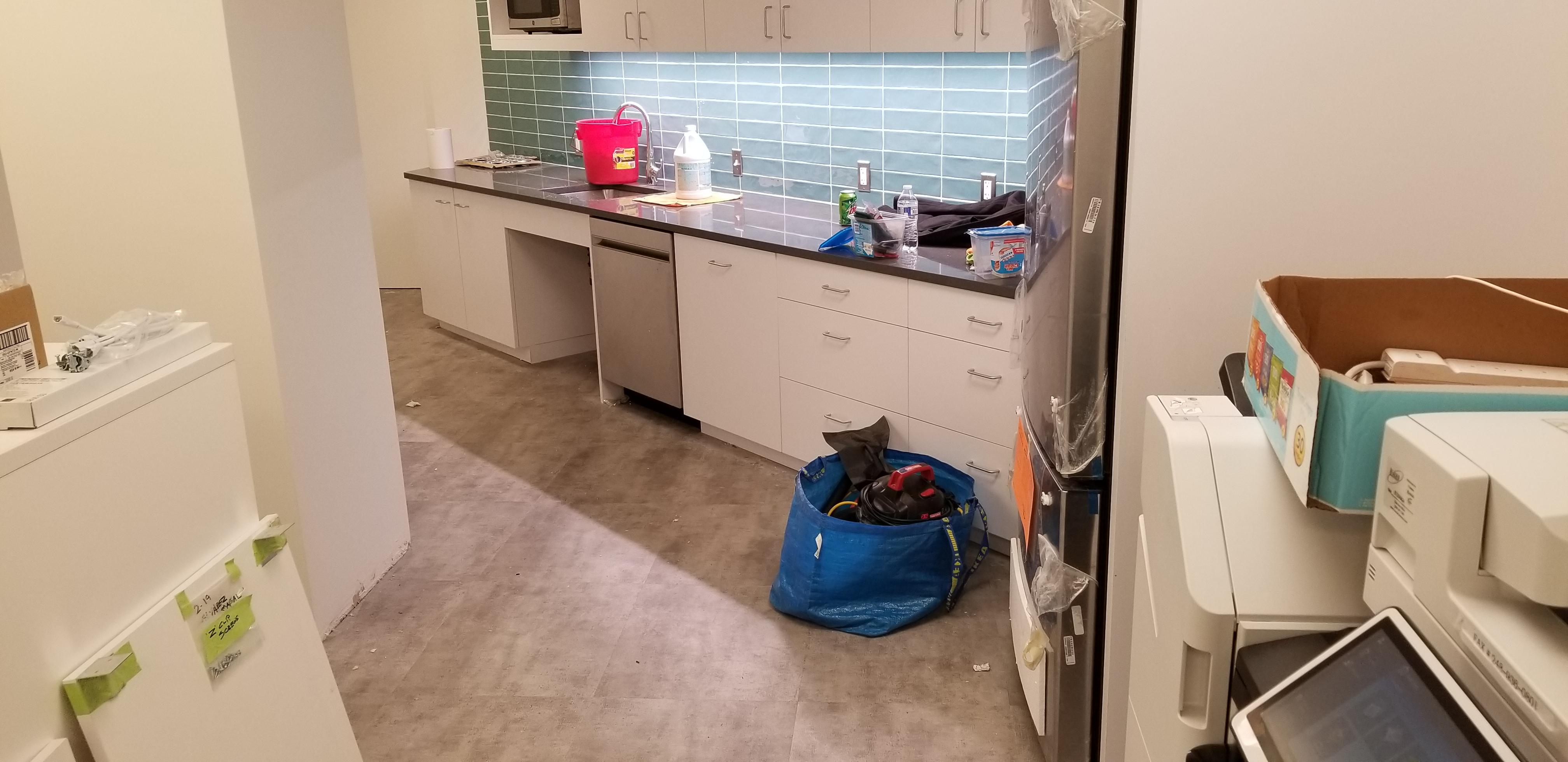 Construction Clean Up, Kitchen