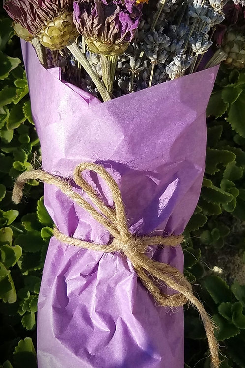Dried Lavender & Flowers Mixed Bundle