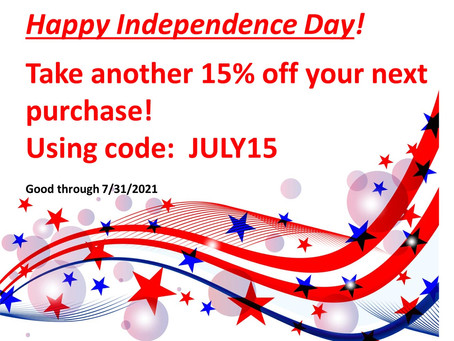 July Independence Sale!