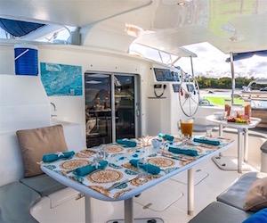 Images of life aboard crewed yacht charter catamaran Bliss sailing the Virgin Islands!