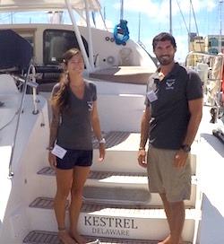 Catamaran Kestrel offers luxury crewed yacht charter vacation rental trips in the Virgin Islands, BVI.