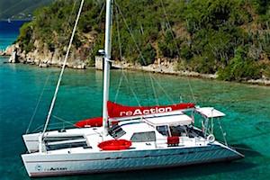Reaction catamaran crewed yacht charter