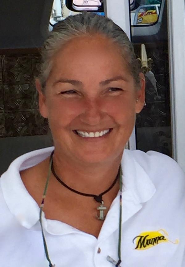 Chef Emily Keese on Yacht Charter Catamaran Manna