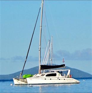 Catamaran Pisces crewed yacht charter Virgin Islands