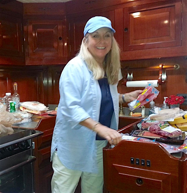 Chef Julie King on Yacht Columbo Breeze