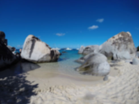 The Baths in Virgin Gorda British Virgin Islands BVI Caribbean.