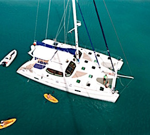 Crewed Yacht Charters on Catamaran Kestrel Sailing in the Virgin Islands