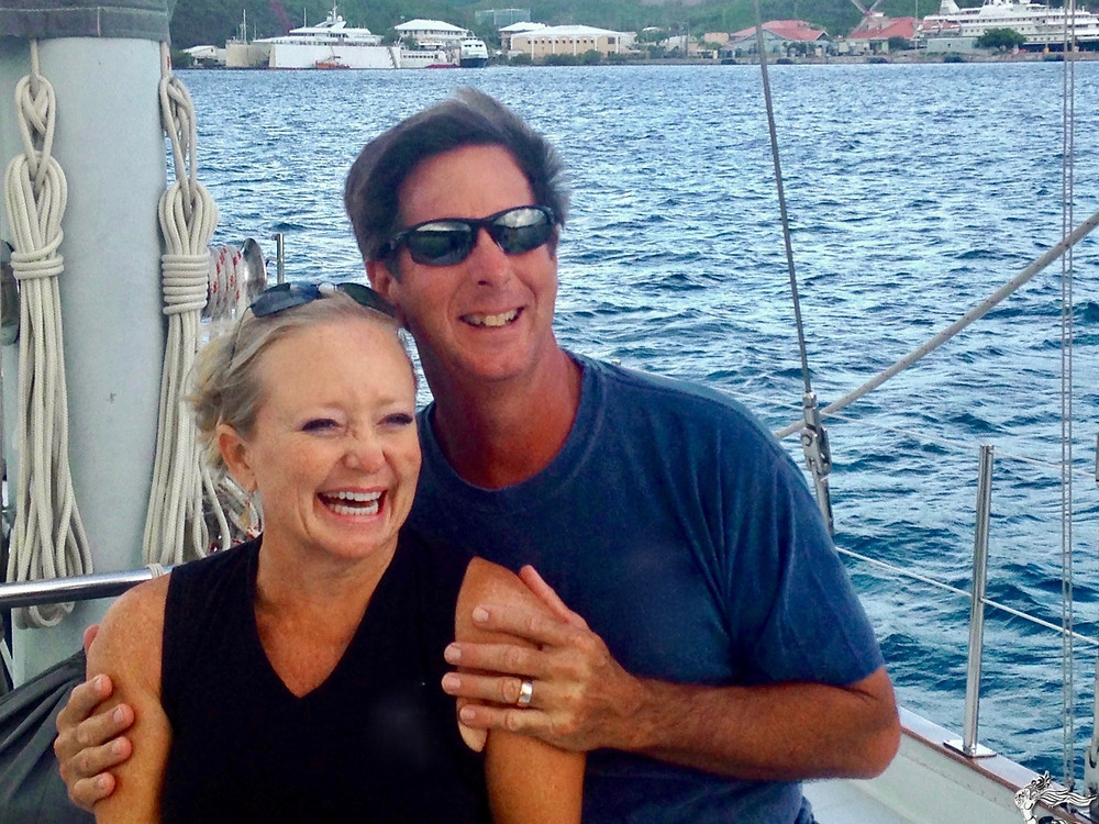 Captain Randy and Shelly Tucker at Yacht Charters Guru