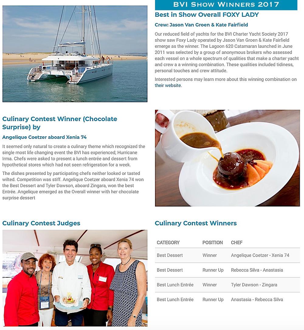 Crewed Yachts BVI CYS Show 2018