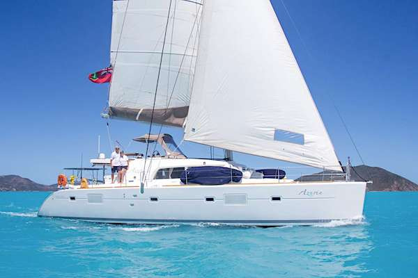 Catamaran Azuria sailing in the British Virgin Islands
