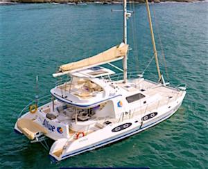 Catamaran Aliwe Crewed Yacht Charter Discount Virgin Islands