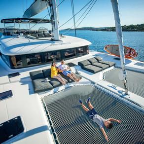 Catamaran Lady Fiona Crewed Yacht Charters Sailing the Caribbean and Mediterranean