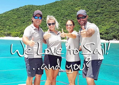 Catamaran Shangri La Crewed Yacht Charter Sailing Vacation Virgin Islands