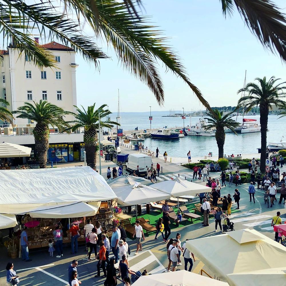 The Riva in Split, Croatia