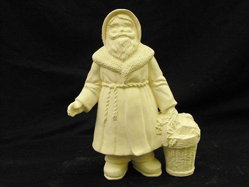 Santa with wicker basket
