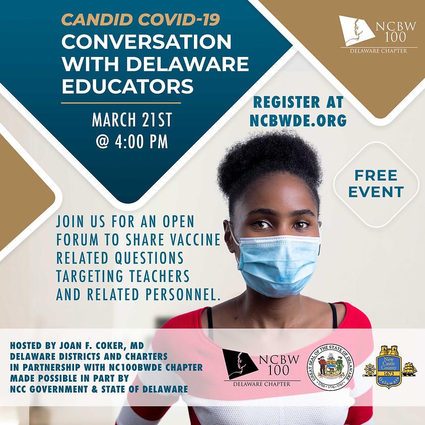 Candid COVID-19 Conversation with Delaware Educators
