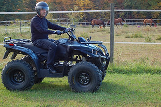 DRR USA's electric ATV at an equestrion