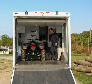 DRR USA's EV Safari electric ATV in an RV