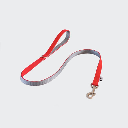 Dog Lead Red Pointy Faces
