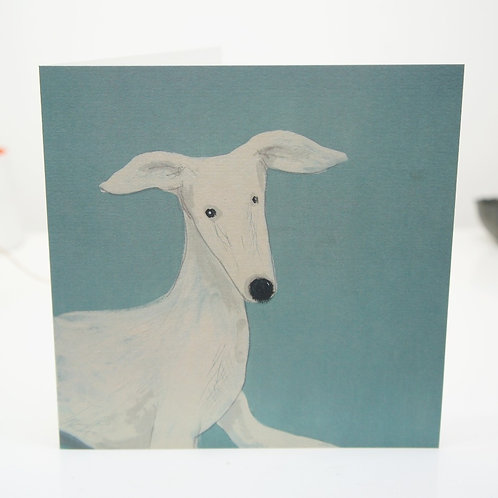 Rosie greeting card. Lurcher whippet greyhound sighthound cards