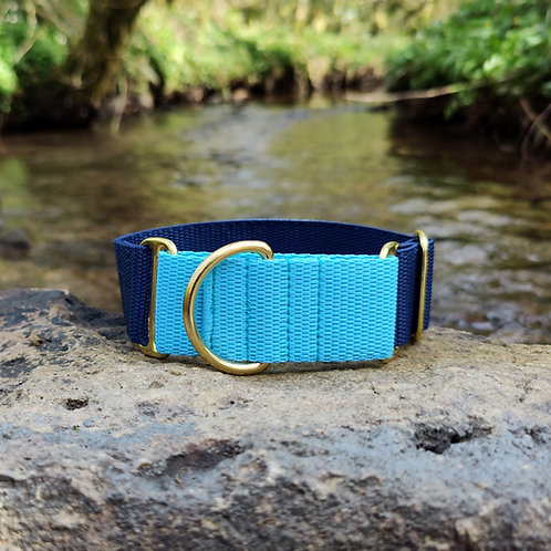 1.5 Inch Martingale Collar for Whippet Greyhound Lurcher in Navy and Blue