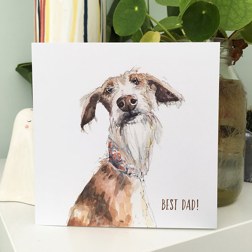 Best Dad Dog Themed Card for Father's Day