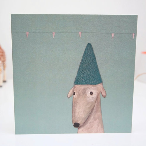 Sighthound birthday card greyhound whippet lurcher