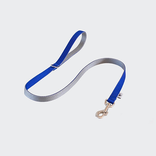 Pointy Faces Dog Lead Leash Blue