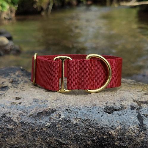 "1.5"" Standard Collar in Burgundy Webbing"