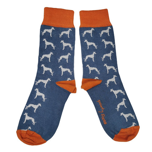 Women's Sighthound Socks. Whippet lurcher greyhound gift. Pointy Faces