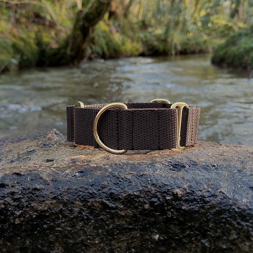 """1.5"""" Martingale Collar in Brown Webbing"""