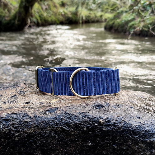 "1.5"" Martingale Collar in Navy Webbing"