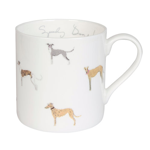 Sighthound Mug Cup - Pointy Faces gift for lurcher owner