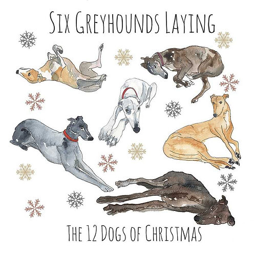 Greyhound Christmas Card pack of 5