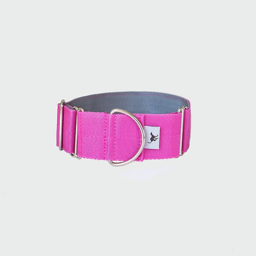 Greyhound Lurcher and Whippet Martingale Collar Pointy Faces Pink